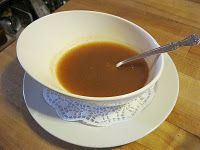 Farmstand apple soup - made with local apples, served hot.  Wonderful when it's cold outside!