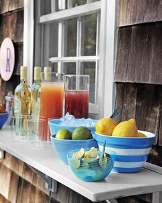 "Have your tools at the ready and prepare to upgrade your outdoor ""living room"" using a few easy projects. Windowsill drop-down bar anyone?"
