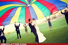 Parachute wedding!