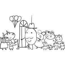 Top 35 Free Printable Peppa Pig Coloring Pages Online Peppa Pig Coloring Pages Peppa Pig Colouring Coloring Pages