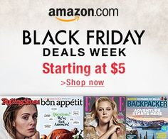 Black Friday Deals Week – Magazines from $5