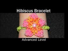 Rainbow Loom® HIBISCUS Bracelet - YouTube