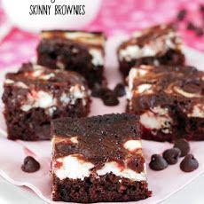 Skinny Strawberry Cheesecake Brownies Recipe