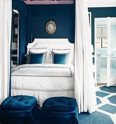 Monoaco Blue Bedroom from French Charmed
