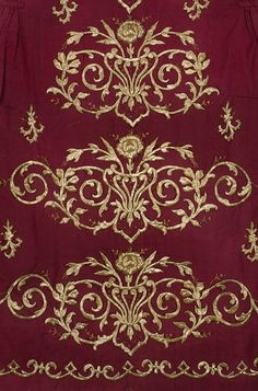Detail of a late-Ottoman embroidered 'bindalli entari' (bridal/festive women's robe).  Ca. 1900.