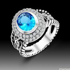 Unique Jewelry - Hot Sweet Friendship Jewelry Aquamarine S80 Silver Gemstone Ring size 8