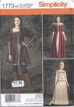 Queen Maiden Medieval Renaissance Dress Huntress by Rosie247, $7.99