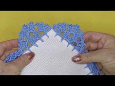 Crochet Edging Tutorial, Crochet Edging Patterns, Bead Embroidery Patterns, Crochet Lace Edging, Crochet Headband Pattern, Crochet Borders, Doily Patterns, Crochet Flowers, Cross Stitch Embroidery