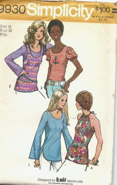 Uncut Misses Size 16 Vintage 1970s Sewing Pattern by ItsSewVintage
