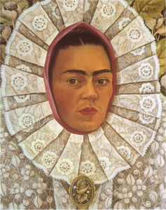 artmagnifique:  FRIDA KAHLO. Self Portrait, 1948, oil on masonite.