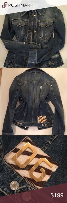 Dolce and Gabbana Denim Jacket Size 46, 100% Cotton, made in Italy, Preowned in excellent condition Dolce & Gabbana Jackets & Coats Jean Jackets