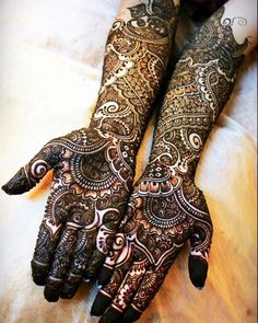 Latest Henna Designs for Indian Brides