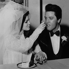 Brides: Elvis and Priscilla Presley Wedding Photos: TBT