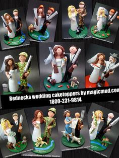 Shotgun Hunters Wedding Cake Toppers by http://www.magicmud.com   1 800 231 9814  magicmud@magicmud.com  http://blog.magicmud.com  https://twitter.com/caketoppers         https://www.facebook.com/PersonalizedWeddingCakeToppers http://instagram.com/weddingcaketoppers $235  #wedding #cake #toppers #custom #personalized #Groom #bride #anniversary #birthday#weddingcaketoppers#cake-toppers#figurine#gift#wedding-cake-toppers #hunter#hunting#duckHunting#shotgun#camouflage#camo
