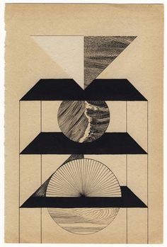 Louis Reith UNTITLED COLLAGE AND INK ON FOUND BOOK PAGE