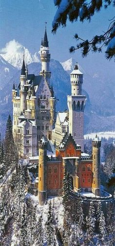 Neuschwanstein Castle (German: Schloss Neuschwanstein, pronounced [n?n]) is a Romanesque Revival palace on a rugged hill above the village of Hohenschwangau near Füssen in southwest Bavaria, Germany. The palace was commissioned by L Places To Travel, Places To See, Travel Destinations, Beautiful Castles, Beautiful Buildings, Unique Buildings, Dream Vacations, Vacation Spots, Places Around The World