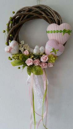 Diy Spring Wreath, Diy Wreath, Spring Crafts, Festive Crafts, Diy And Crafts, Easter Wreaths, Holiday Wreaths, Vence, Diy Décoration