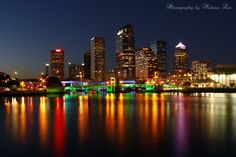 https://flic.kr/p/e8VPsw | TAMPA | Tampa skyline just after sunset. This is a 20 second exposure on a cold night. I love Tampa and I love this picture!