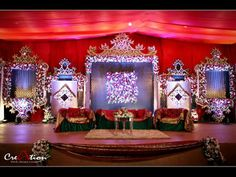 #creation Wedding Stage Decorations, Engagement Decorations, Flower Decorations, Ceremony Backdrop, Indoor Wedding, Home Decor Signs, Stage Design, Event Decor, Wedding Events