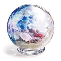 Blown Glass Seashore Globe Paperweight in {productContextTitle} from {brandTitle} on shop.CatalogSpree.com, your personal digital mall.