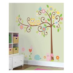 Scroll Tree Peel & Stick Mega Pack Wall Decals by RoomMates