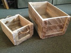 Reclaimed Oak Pallet Wood Crates by HomemadeStratton on Etsy