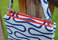 ikat bag: Zip A Bag Chapter 7: Twin Zippered Edge Clutch