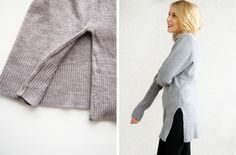 LACK OF COLOUR/ Side split sweater / Diy