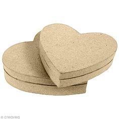 Compra nuestros productos a precios mini Caja corazón de papel maché - 9 cm - Entrega rápida, gratuita a partir de 89 € !