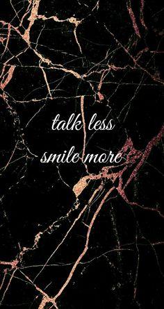 black background with rose gold marble #talklessmilemore #hamilton