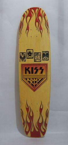 Kiss Army longboard Deck