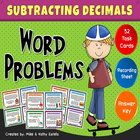 This resource includes thirty-two (32) word problem task cards designed to help students strengthen their skills on subtracting decimal numbers. It...