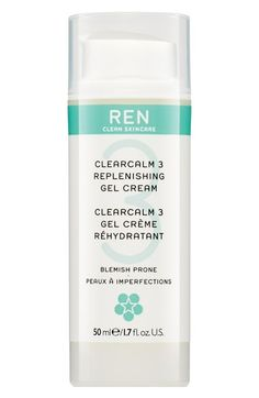 REN 'Clearcalm 3' Clarifying Gel Cream Night Serum at Nordstrom.com. 30.00 Replenishing gel cream a soothing treatment formulated to leave blemish prone skin replenished, comfortable and calm while combating the appearance of blemishes and breakouts. It's also designed to combat the three key causes of breakouts and blemishes, excess sebum, build up of dead skin cells and blemish causing bacteria, without harshness. The lightweight gel-cream replenishes and ...