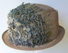 Vintage 1910 Deco Womens Floral Flapper Cloche Hat by marvita13, $225.00