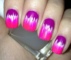 neon colors - nail design, #nailart