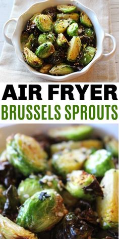 This tender and crispy Air Fryer Brussels Sprouts recipe is flavorful and amazing with Everything Bagel Seasonings. The perfect healthy side dish. #airfryer #brusselssprouts #sidedish #veggies #airfryerrecipes #healthyrecipes