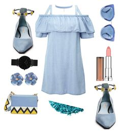 """""""untitled"""" by rindysriantika on Polyvore featuring Jules Smith, Miss Selfridge, Urban Decay, Fabrizio Viti, CLUSE, Prada and Maybelline"""