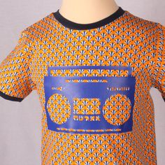 Boombox in upside down circus tent shirt / Colourful by FunkAndJoy