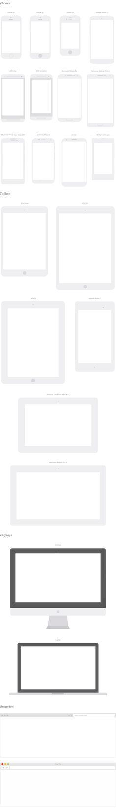Free Mobile Device Mockups OmniGraffle Stencil and Illustrator Template – UX Kits