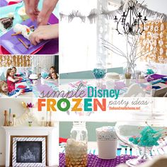 simple disney frozen party - the handmade home