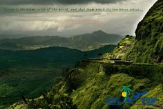 The beautiful ghats of the western region of India