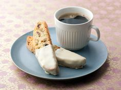 Holiday Biscotti Recipe: FoodNetwork.com Just sub the pistachios for hazelnuts and the cranberries for whole almonds, and add the zest of 1 lemon rather than just a tsp. Best biscotti recipe yet! Lemon, almond, hazelnut and white chocolate biscotti. Perfect with a warm homemade latte on a chilly day.