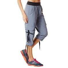 Zumba Fitness Womens OhSoSoft Stretch Cargos Medium Greys The Way * Offer can be found by clicking the VISIT button