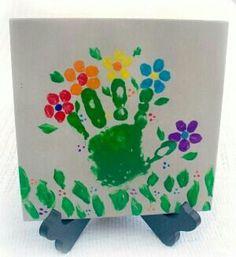 Flower hand print