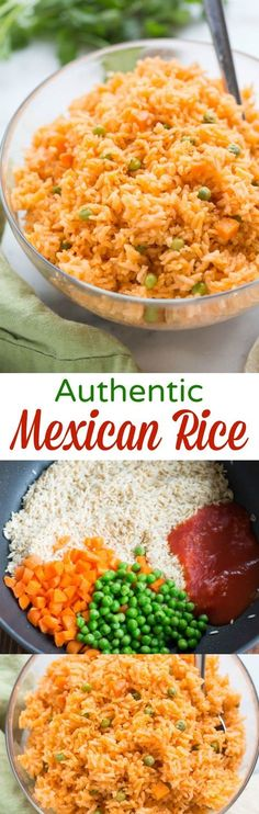 The BEST, truly authentic Mexican rice! Super easy to make from home, and a necessary side dish for all of your favorite Mexican recipes. | tastesbetterfromscratch.com #Recipes