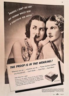Kotex Magazine Advetisement - Kotex Ads, Ads, Beauty Ads,  Paper Ephemera, Print, Magazine Ad by Inkart on Etsy