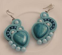 Shell soutache earrings