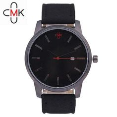 2018 CMK Military Leather Business Quartz Watches Men Top Brand Luxury Sport Casual Calender Wristwatch Relogio Masculino clock Simple Cheap Watches outfit accessories from Touchy Style store Cheap Watches, Casual Watches, Cool Watches, Watches For Men, Black Watches, Best Affordable Watches, Military Tops, Military Style Watches, Look Plus Size