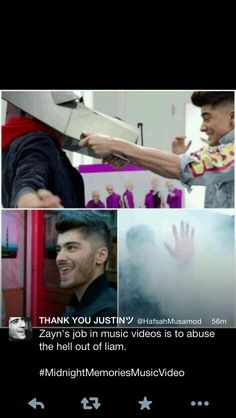 Zayn's job in music video's : Abuse the Hell out of Liam<<< Lol haha