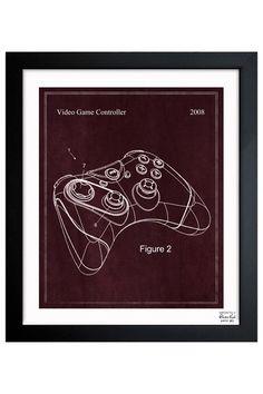 Video Game Controller 2008 Framed Art Print by Intriguing Design: Blueprints & Sketches on @HauteLook